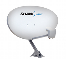 Shaw Direct 75e elliptical satellite dish image